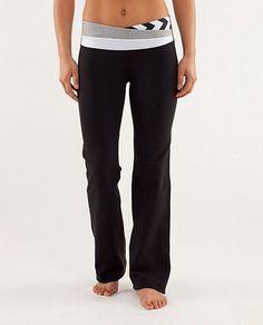 Lululemon Athletica Yoga Astro Pant Black / White Grey / Arrow Black