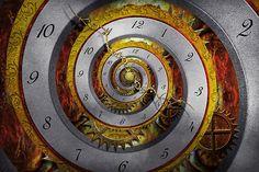 steampunk card creations | Mike Savad › Portfolio › Steampunk - Spiral - Infinite time