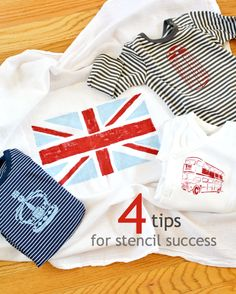 4 tips for stencil success using Stencil1 London Set - so cute! - click thru for the full tutorial. #stencil1 #edroth #stenciling #crafts #diy #plaidcrafts #folkart | Supplies available at Joann.com or Jo-Ann Fabric and Craft Stores