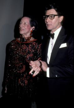 Diana Vreeland and Yves Saint Laurent, 1983.