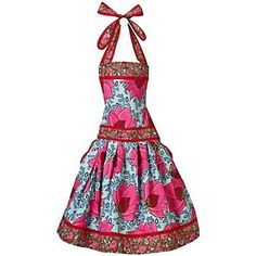 sew, flower apron, style, dresses, aprons, papers, kitchen, flowers, lotus flower
