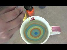 Tecnica para pintar uñas con agua!