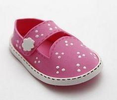 Moldes de sapatinhos de bebê em EVA - ARTESANATO PASSO A PASSO!