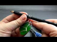 step-by-step video on one way to wrap sea glass.