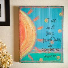paint canvas and put a quote on it