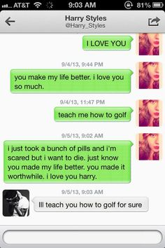 Guys I'm legitimately crying. He always DMs the one's that really need it, and I think that's really sweet. It shows that he actually goes through and reads them. And I love him for that. (I would just like to say the girl is fine. {and she wasn't an attention seeker, she actually did take the pills.} Harry DMed her while she was on the way to the hospital and comforted her. And she's fine now.)
