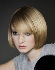 medium blonde straight coloured bob hairstyles for women