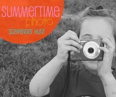#Kids Summertime Photo Scavenger Hunt