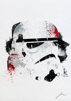 Arian Noveir - Paint Splatter Star Wars    Arian Noveir strikes back ! After having paint splatted some awesome Marvel icons, here he goes again with the Star Wars main characters ! Really cool stuff, as usual !