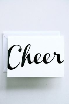 Cheer - Letterpress Printed  Holiday Cards, $5.00