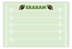 Football Field Flat Note Card