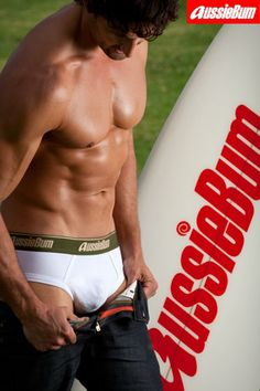 Tim Robards for Aussiebum (2009) #TimRobards #Australian #malemodel #model #fitness #fitnessmodel #Aussiebum #ChadwickModels #TheBachelor #pecs #chest #abs #muscles #underwear #surf #board