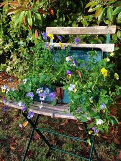 French café and Wire chairs in the garden Jane Krauter's flowery French cafe chair See this and all the ideas....