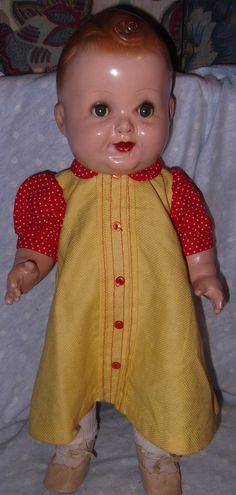 "Baby Sandy child star 17"" all Composition doll by Freundlich"