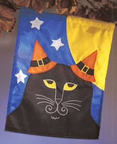 Halloween Cat Banner by Sheila Haynes Rauen, from the book Creepy Crafty Halloween