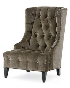 grey french wing chair