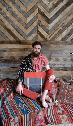 Men need bags, too. (Especially men who like textiles this much.) #etsy #etsyfinds