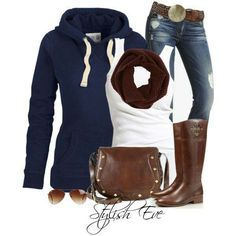 Perfect casual outfit   All purchasing details are available!    For More: http://www.stylisheve.com/brown-winter-2013-outfits-for-women-by-stylish-eve/