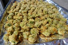 Breaded Oven-Baked Okra  save some calories and bake your okra instead of frying, but keep the same crunchy taste bake okra, oven bake, food, plants, okra plant, gardens, eat, recip, ovens