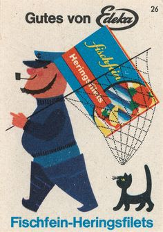 Cats in Illustration and Advertising: Fischsfein Heringsfilets