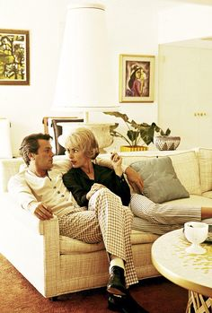 Tony Curtis and Janet Leigh at home in the 1950's