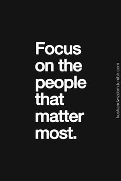 It's all about where you put your focus.