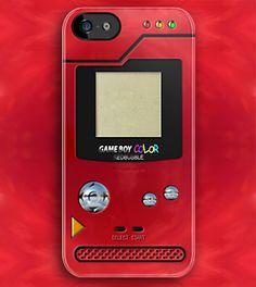 Red Chrome Nintendo Pokemon Pokedex Pokeball Pikachu Gameboy apple iphone 5, iphone 4 4s, iPhone 3Gs, iPod Touch 4g case