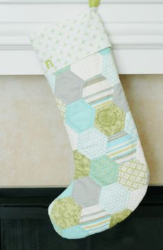 My favorite quilted stocking - modern but classic.