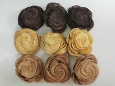 Sola Shell flowers   SET of 30  browns by SuperiorCraftSupply