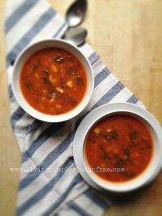 Tomato Potato + Kale Soup