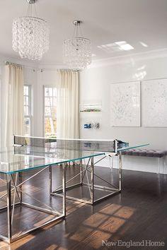 Lucite ping pong   http://apartmentdesigncollections.blogspot.com