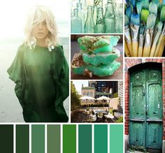 Emerald inspiration board, Image source: brightwishes.blogspot.com
