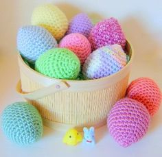 These #crocheteastereggs are super cute when worked in pastel crochet colors. Use them as decor in your home or have the kids do an egg hunt.