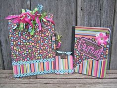 clipboard, post it note holder, and journal set