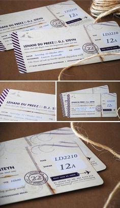 plane ticket invitation