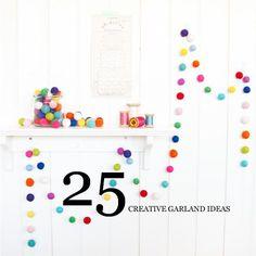 25 creative party garlands