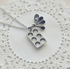the little baker necklace in antiqued silver