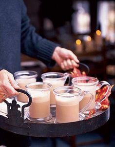 Share a yummy winter cocktail on the porch with your neighbors.  Strong coffee, ice cream, and coffee liqueur combine to make the rich punch known as Block Island Fog.