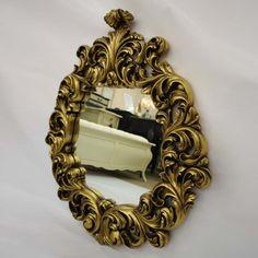 Antoinette Mirror Gold Leaf; Fabulous & Baroque
