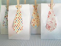 Little Man Birthday Party - gift bags