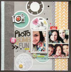 #papercraft #scrapbook #layout. Photo bomb fun!  Nicole Nowosad: Scrapbook and Cards cut file!