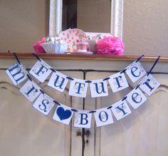 Bridal Shower Idea.... Future Mrs Custom bannerbride to be bachelorette by lolaandcompany, $26.00