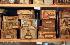 heather bullard photo of wendy addison's cigar boxes