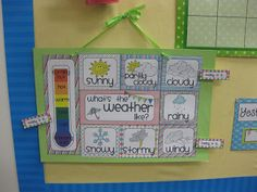 ***{{Free!!! Download & make Weather Chart for Morning Meeting/ Calendar Bulletin Board}}*** Miss Kindergarten: Classroom Setup