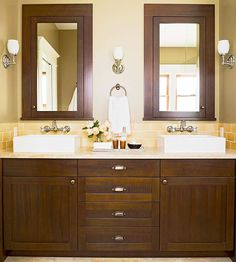 mirror, wall colors, bathroom colors, color schemes, bathrooms, sink, medicine cabinets, master baths, subway tiles