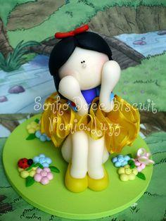 Topo de bolo Branca de Neve Bailarina | Flickr - Photo Sharing!