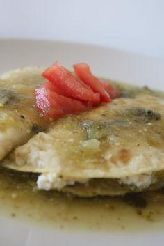 Enchiladas verdes con verdolagas | Cocina y Comparte | Recetas de Ana Arizmendi de Fácil de Digerir y Lunes sin Carne