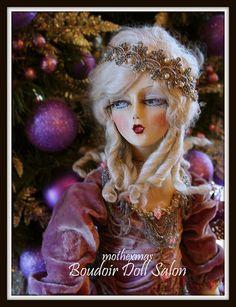 purple Etta boudoir doll