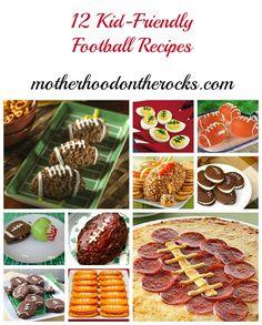 12 Kid-friendly #Football #Recipes - Motherhood on the Rocks