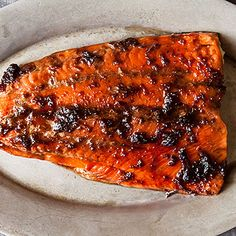 Ginger Soy Glazed Salmon. I substitute the brown sugar with sugar free pancake syrup and works well. I also just brush it on and cook, I have tried basting every 10 minutes but it tastes the same coating and baking for 20-30 mins. I have also frozen extra marinade and it tasted great thawed and used again. And I have added all ingredients and boiled down and added lime juice in after boiling and I could not tell a marked difference. We love this recipe.
